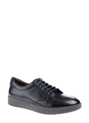 George Hogg Bağcıklı Deri Ayakkabı Lacivert